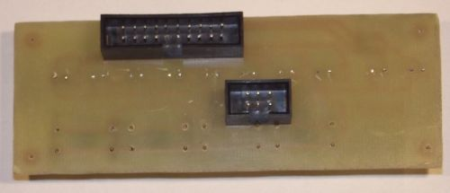 Assembled display board - top view